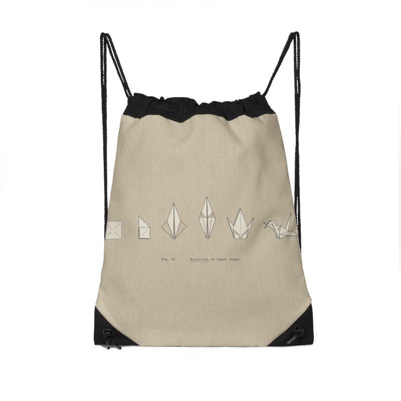Evolution of Paper Crane Accessories Drawstring Bag Bag by agrimony // Aaron Thong