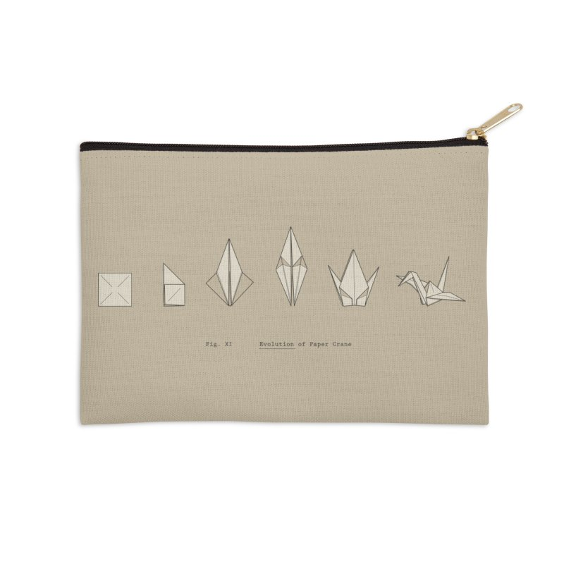 Evolution of Paper Crane Accessories Zip Pouch by agrimony // Aaron Thong