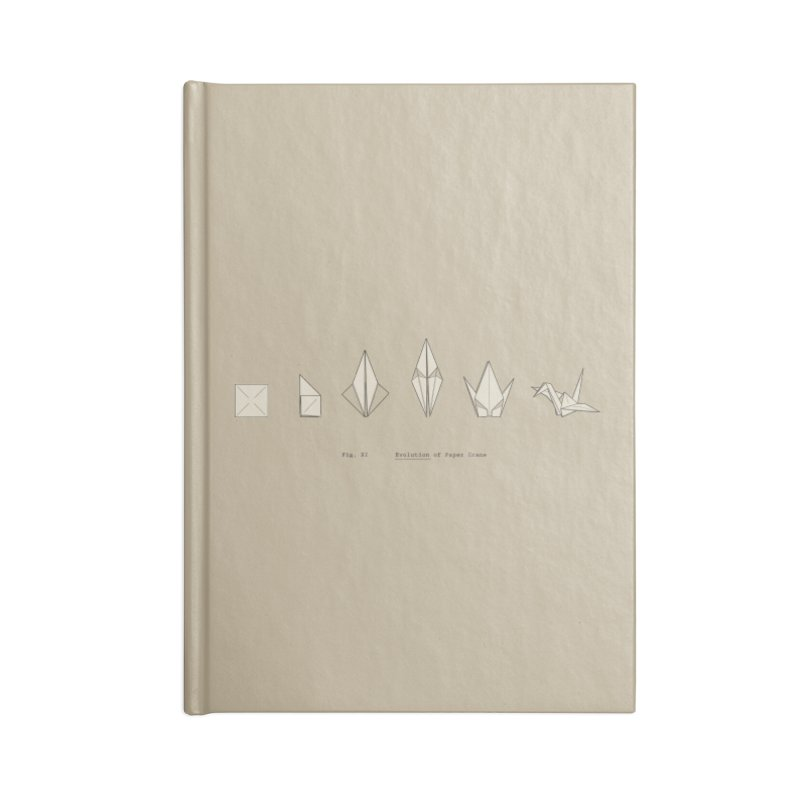 Evolution of Paper Crane Accessories Notebook by agrimony // Aaron Thong
