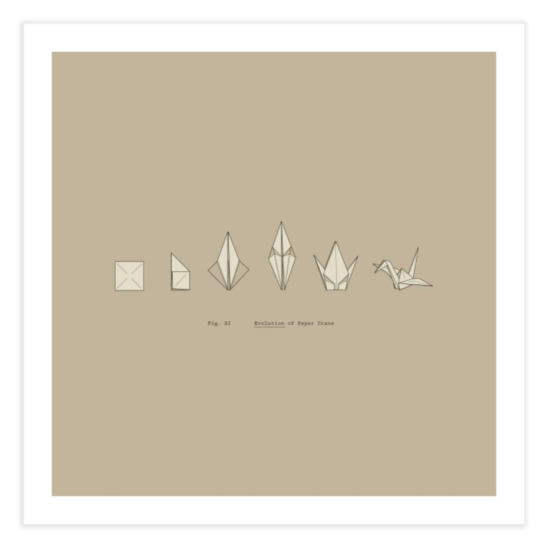Evolution of Paper Crane Home Fine Art Print by agrimony // Aaron Thong