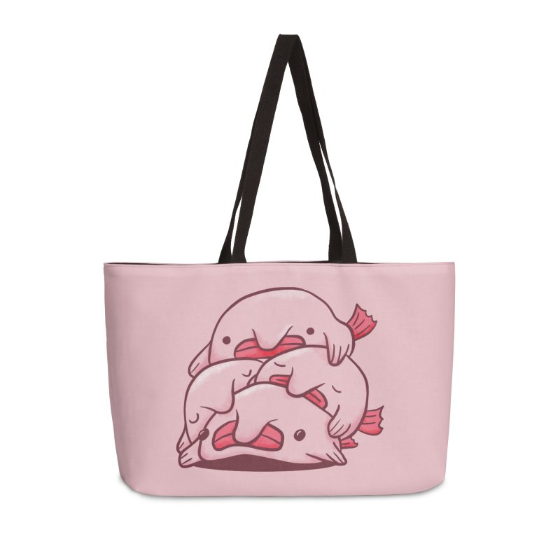 A cuddle of blobfish Accessories Weekender Bag Bag by agrimony // Aaron Thong