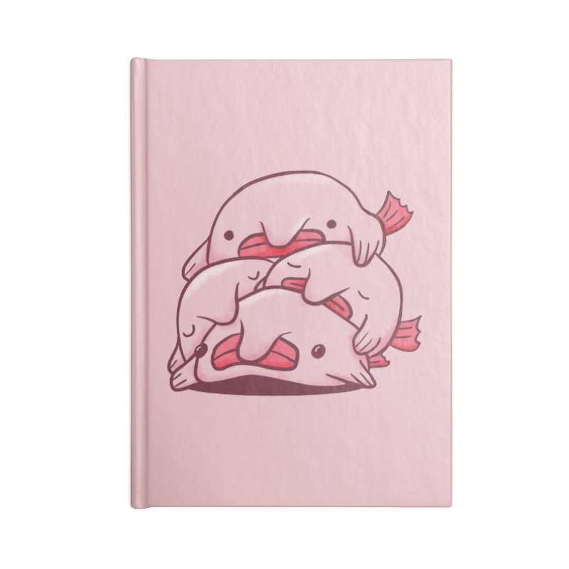 A cuddle of blobfish Accessories Lined Journal Notebook by agrimony // Aaron Thong