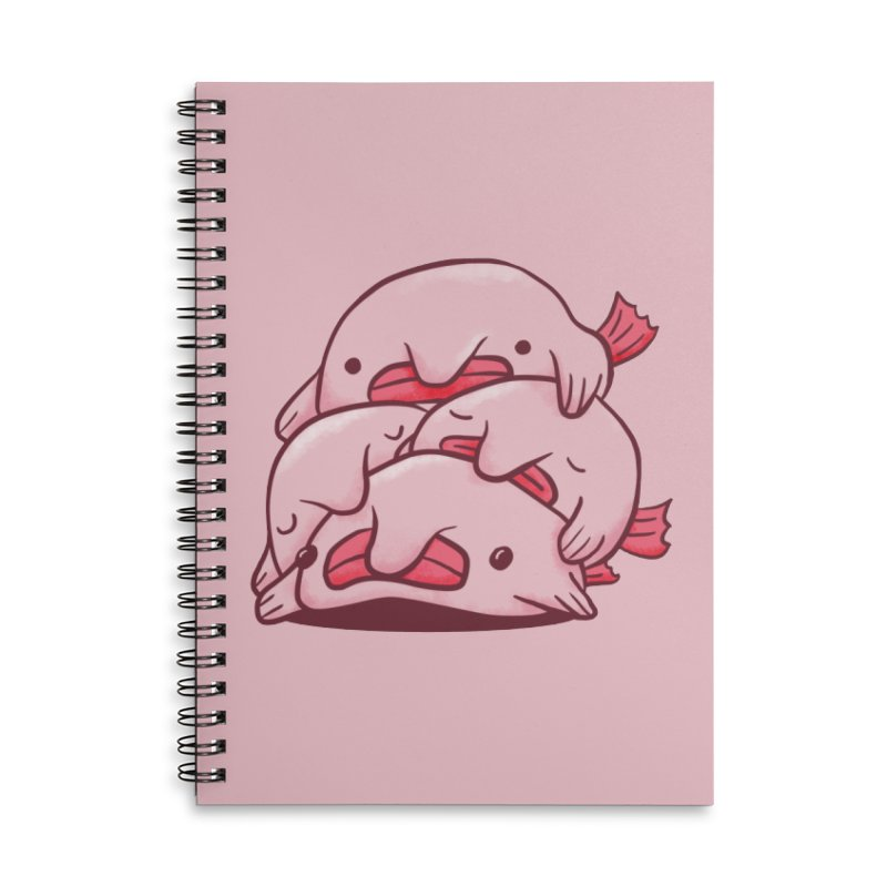 A cuddle of blobfish Accessories Lined Spiral Notebook by agrimony // Aaron Thong