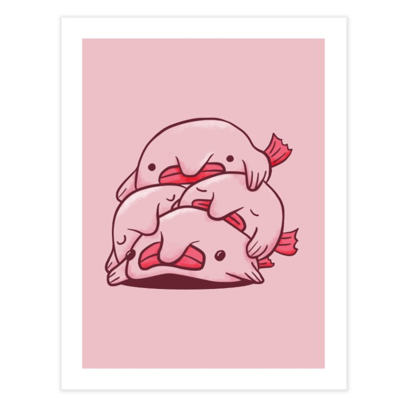 A cuddle of blobfish Home Fine Art Print by agrimony // Aaron Thong