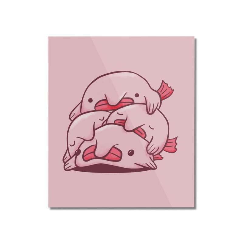 A cuddle of blobfish Home Mounted Acrylic Print by agrimony // Aaron Thong