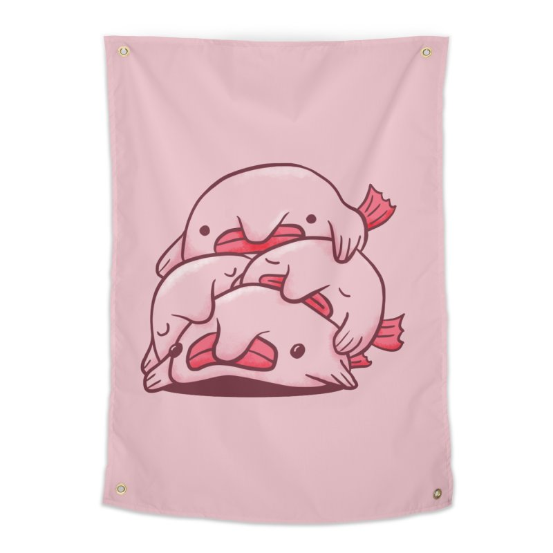 A cuddle of blobfish Home Tapestry by agrimony // Aaron Thong