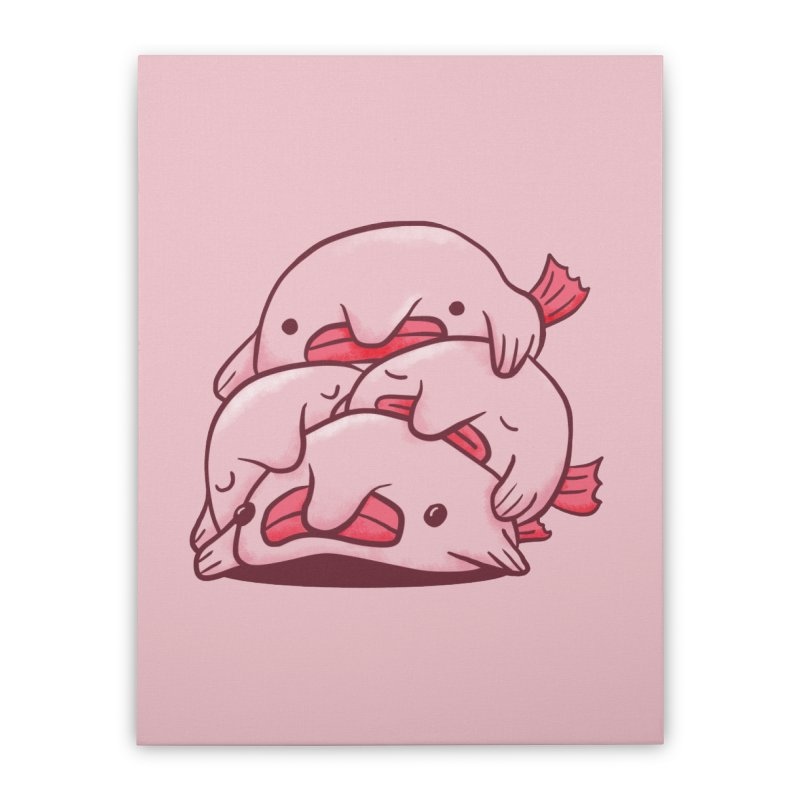 A cuddle of blobfish Home Stretched Canvas by agrimony // Aaron Thong