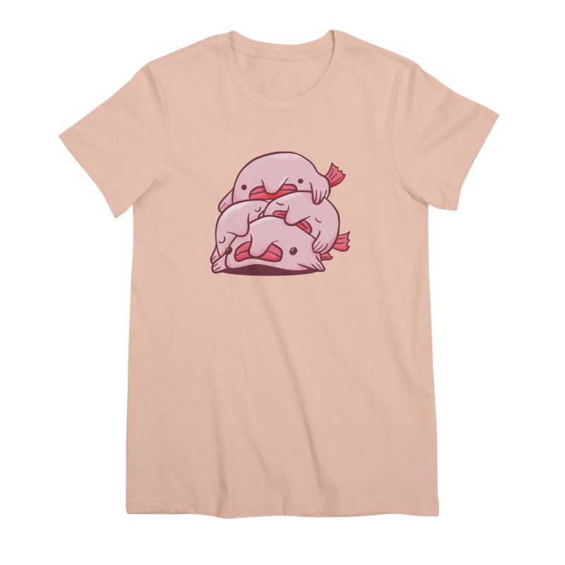 A cuddle of blobfish Women's Premium T-Shirt by agrimony // Aaron Thong
