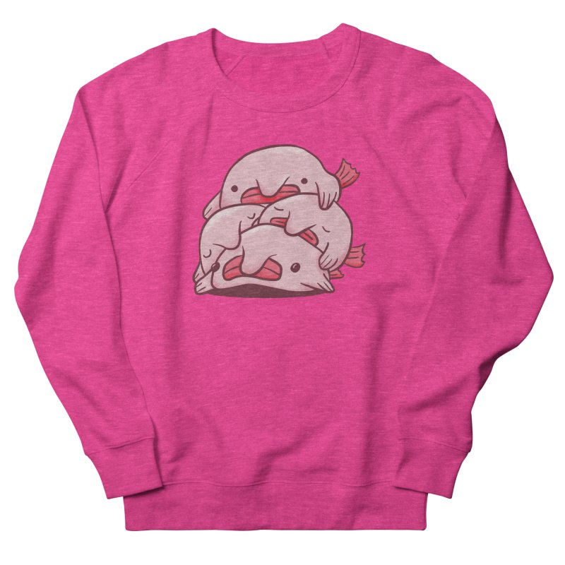 A cuddle of blobfish Women's French Terry Sweatshirt by agrimony // Aaron Thong