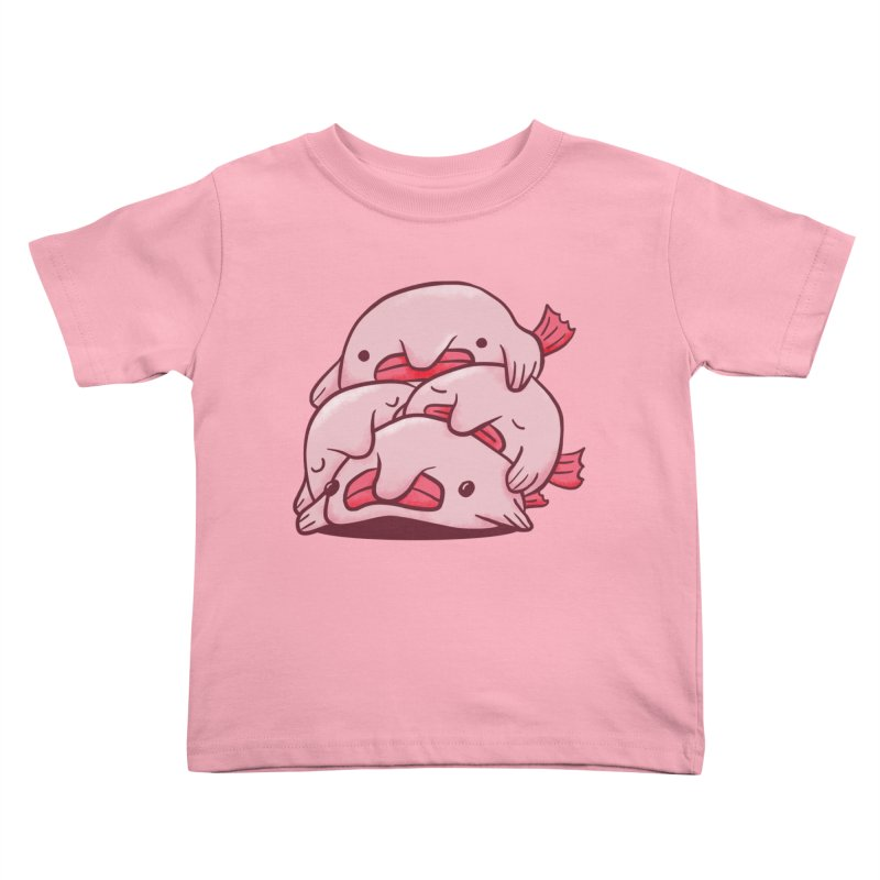 A cuddle of blobfish Kids Toddler T-Shirt by agrimony // Aaron Thong