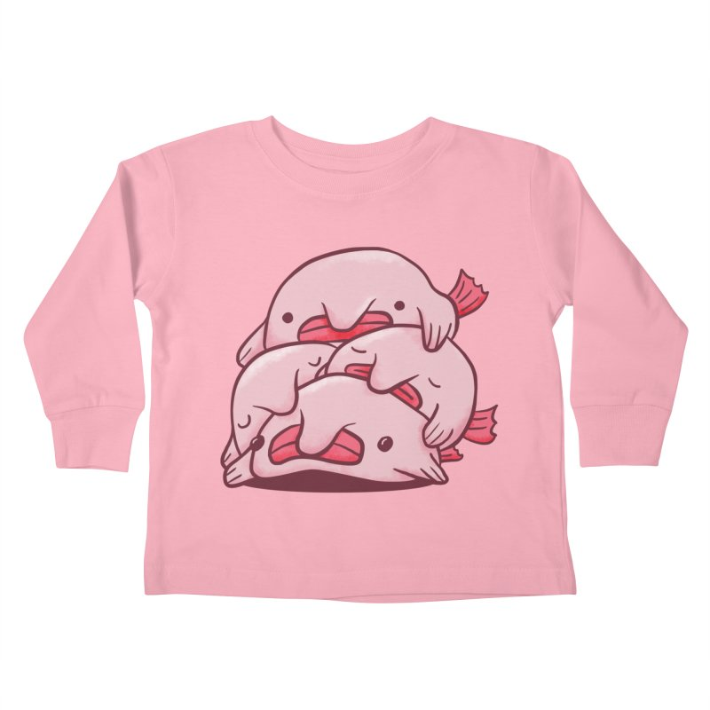 A cuddle of blobfish Kids Toddler Longsleeve T-Shirt by agrimony // Aaron Thong