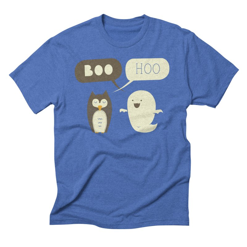 Boo Hoo in Men's Triblend T-shirt Blue Triblend by agrimony // Aaron Thong