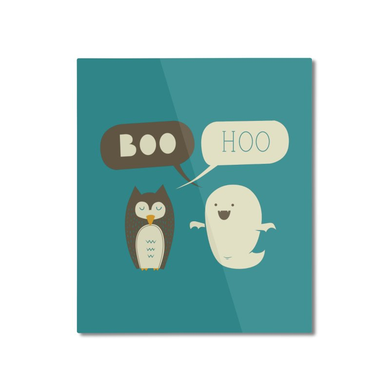 Boo Hoo Home Mounted Aluminum Print by agrimony // Aaron Thong