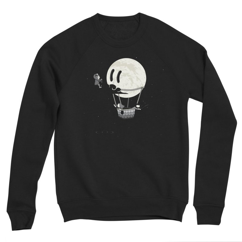 Did You See the Moon in Flight? Men's Sweatshirt by agrimony // Aaron Thong