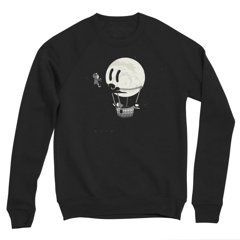 Did You See the Moon in Flight? Men's Sponge Fleece Sweatshirt by agrimony // Aaron Thong