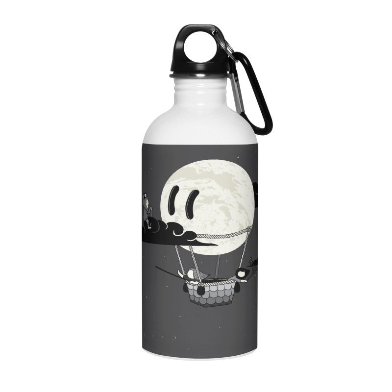 Did You See the Moon in Flight? Accessories Water Bottle by agrimony // Aaron Thong