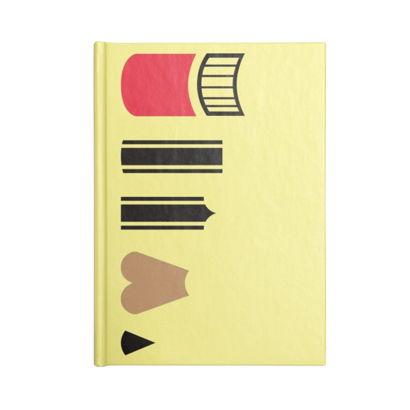 de(Construction) Accessories Blank Journal Notebook by agrimony // Aaron Thong