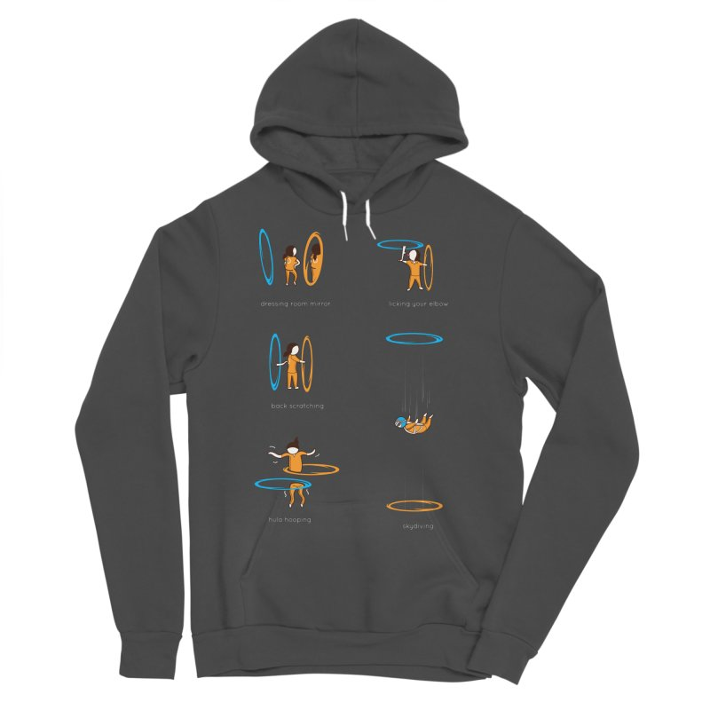 Lesser Known Uses Men's Sponge Fleece Pullover Hoody by agrimony // Aaron Thong