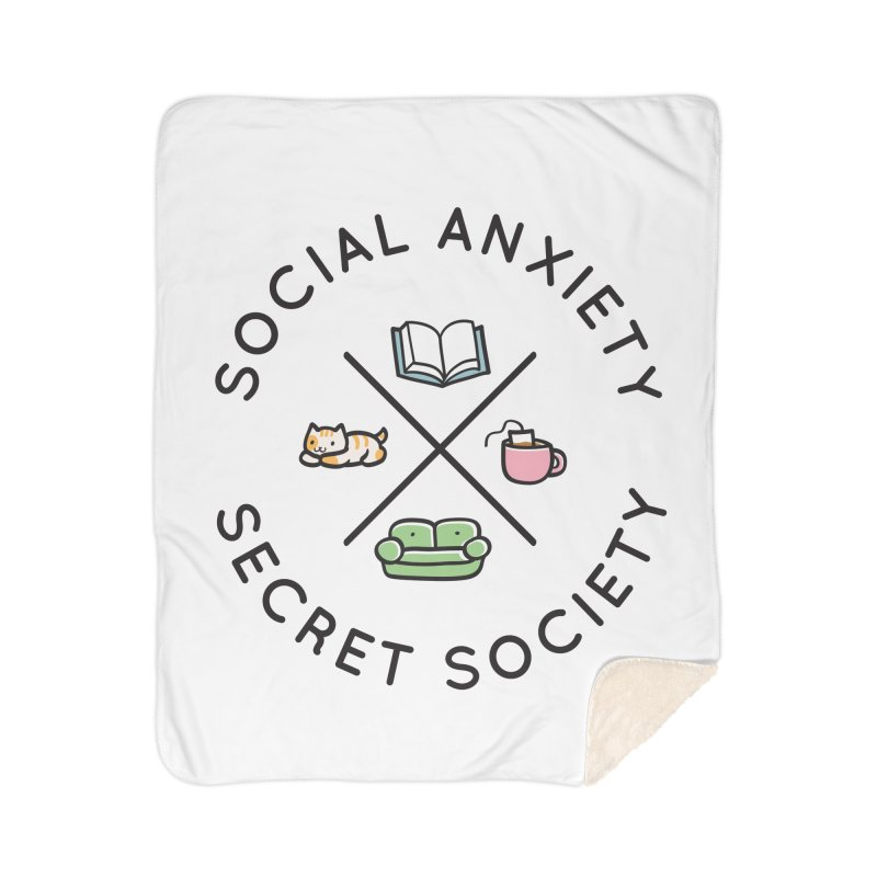 Social Anxiety Secret Society Home Sherpa Blanket Blanket by agrimony // Aaron Thong