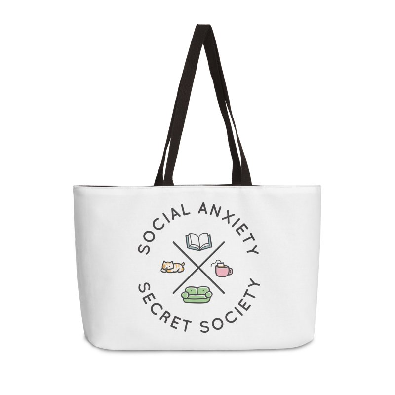 Social Anxiety Secret Society Accessories Weekender Bag Bag by agrimony // Aaron Thong