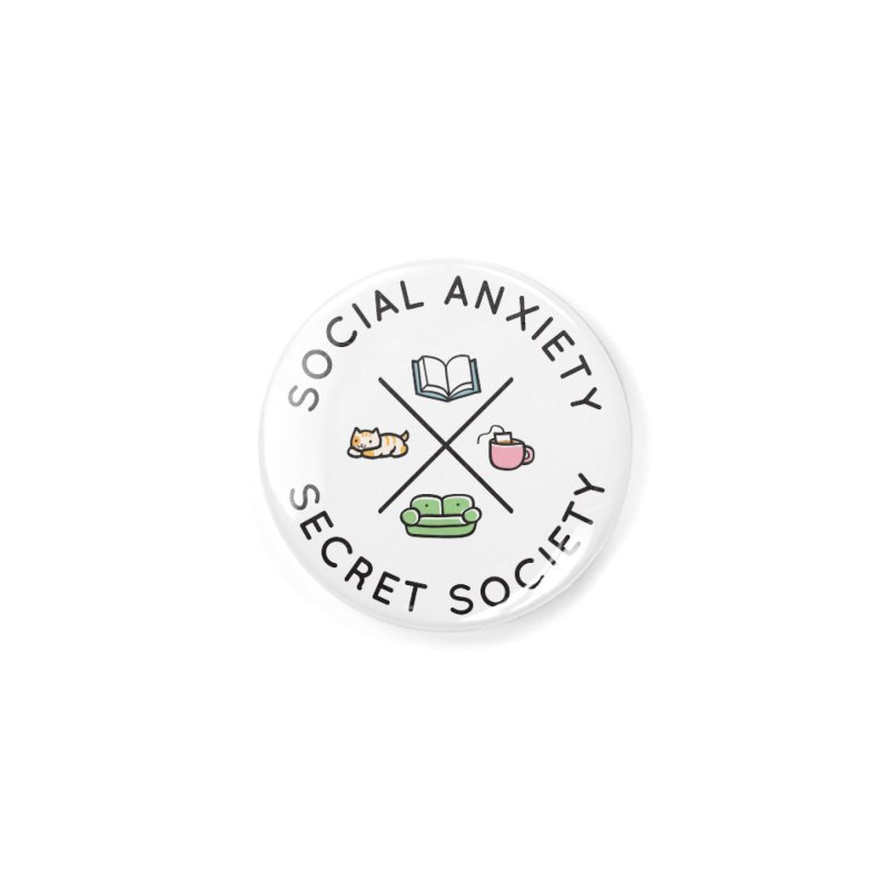 Social Anxiety Secret Society Accessories Button by agrimony // Aaron Thong