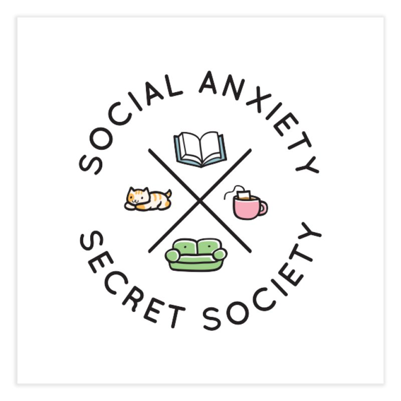Social Anxiety Secret Society Home Fine Art Print by agrimony // Aaron Thong