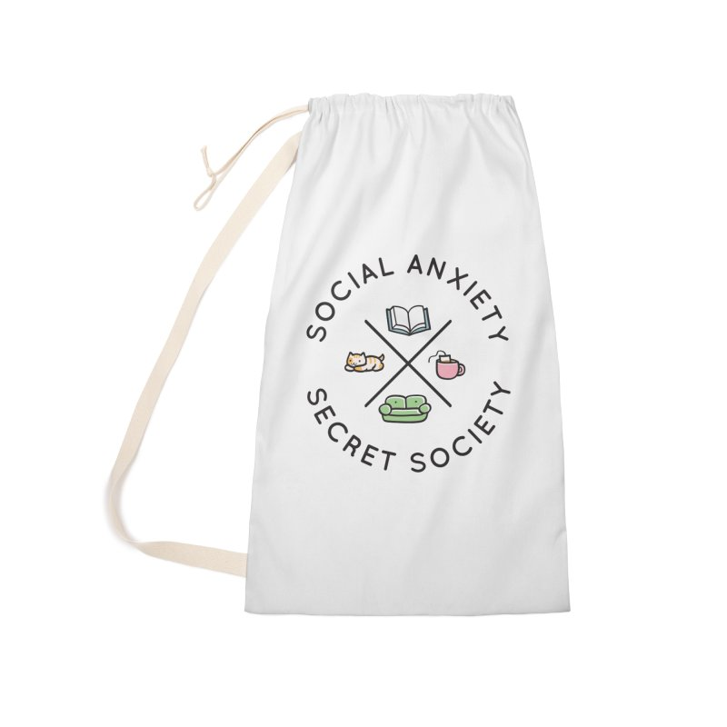 Social Anxiety Secret Society Accessories Laundry Bag Bag by agrimony // Aaron Thong