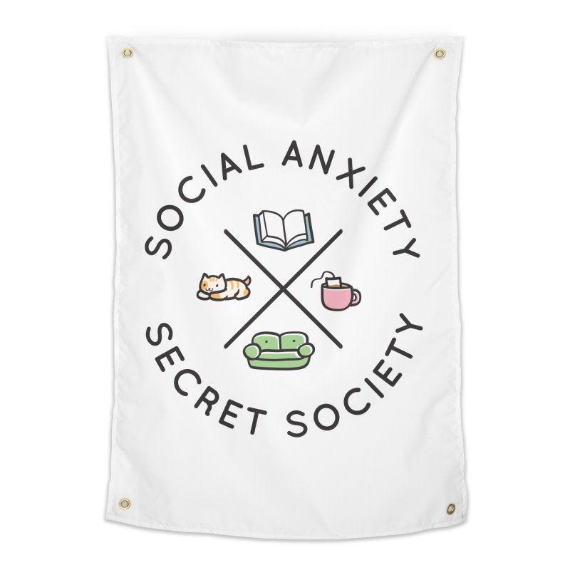 Social Anxiety Secret Society Home Tapestry by agrimony // Aaron Thong