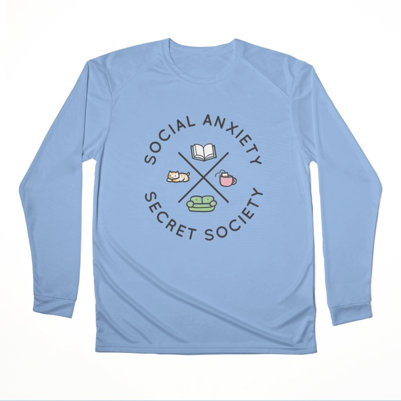 Social Anxiety Secret Society Men's Performance Longsleeve T-Shirt by agrimony // Aaron Thong