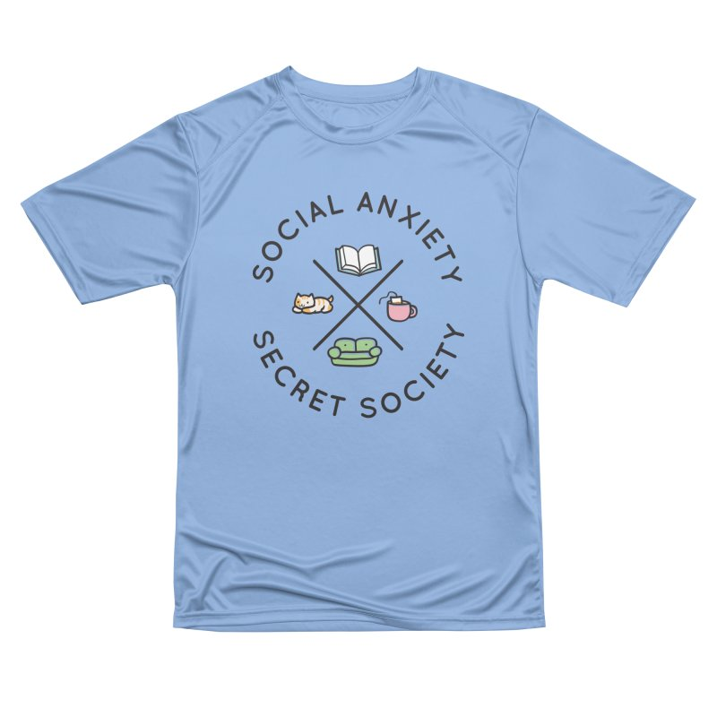 Social Anxiety Secret Society Men's Performance T-Shirt by agrimony // Aaron Thong