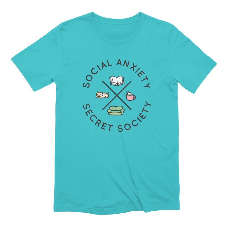 Social Anxiety Secret Society Men's Extra Soft T-Shirt by agrimony // Aaron Thong