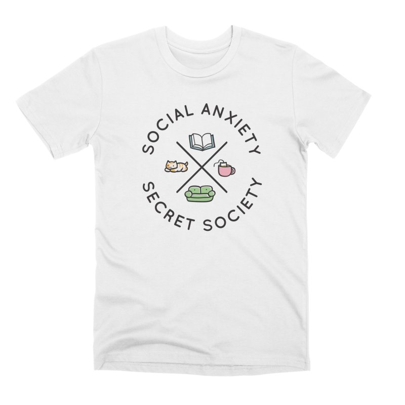 Social Anxiety Secret Society Men's Premium T-Shirt by agrimony // Aaron Thong
