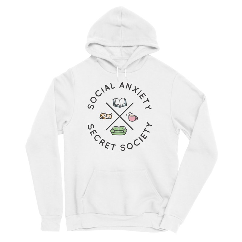 Social Anxiety Secret Society Women's Sponge Fleece Pullover Hoody by agrimony // Aaron Thong