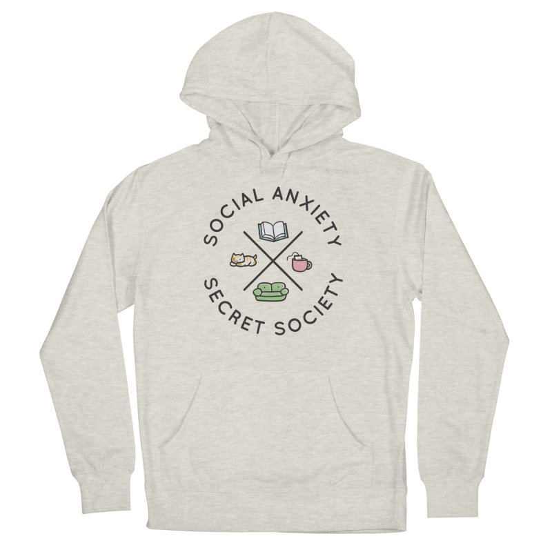 Social Anxiety Secret Society Women's French Terry Pullover Hoody by agrimony // Aaron Thong