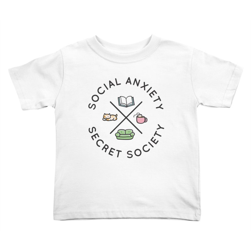 Social Anxiety Secret Society Kids Toddler T-Shirt by agrimony // Aaron Thong