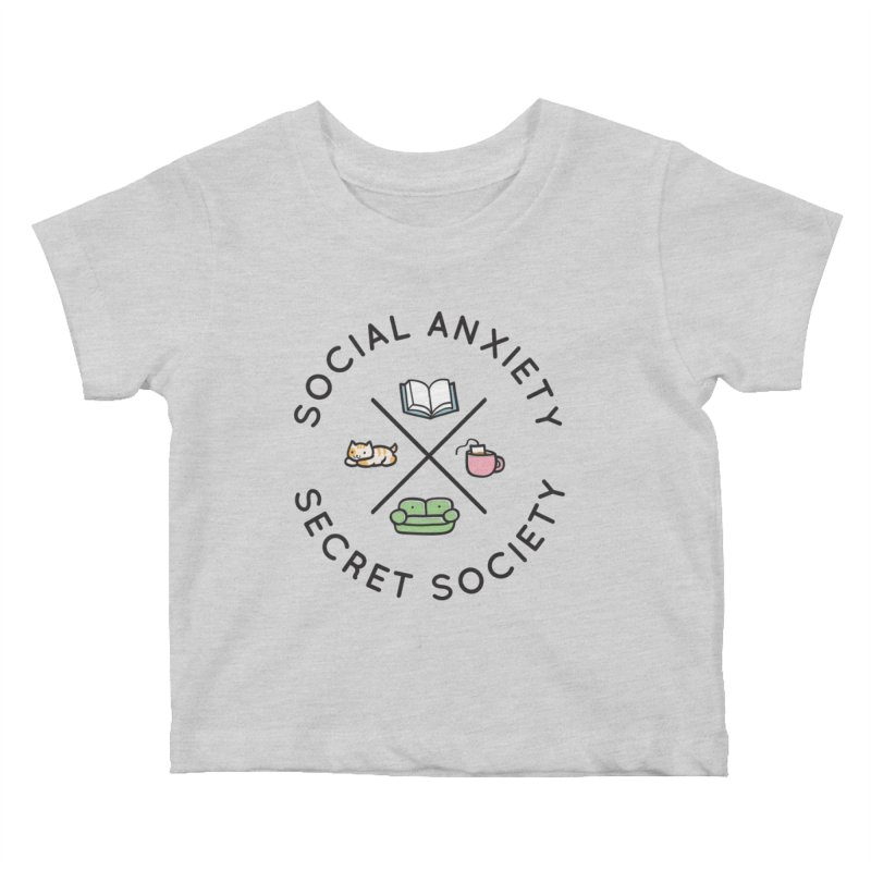 Social Anxiety Secret Society Kids Baby T-Shirt by agrimony // Aaron Thong
