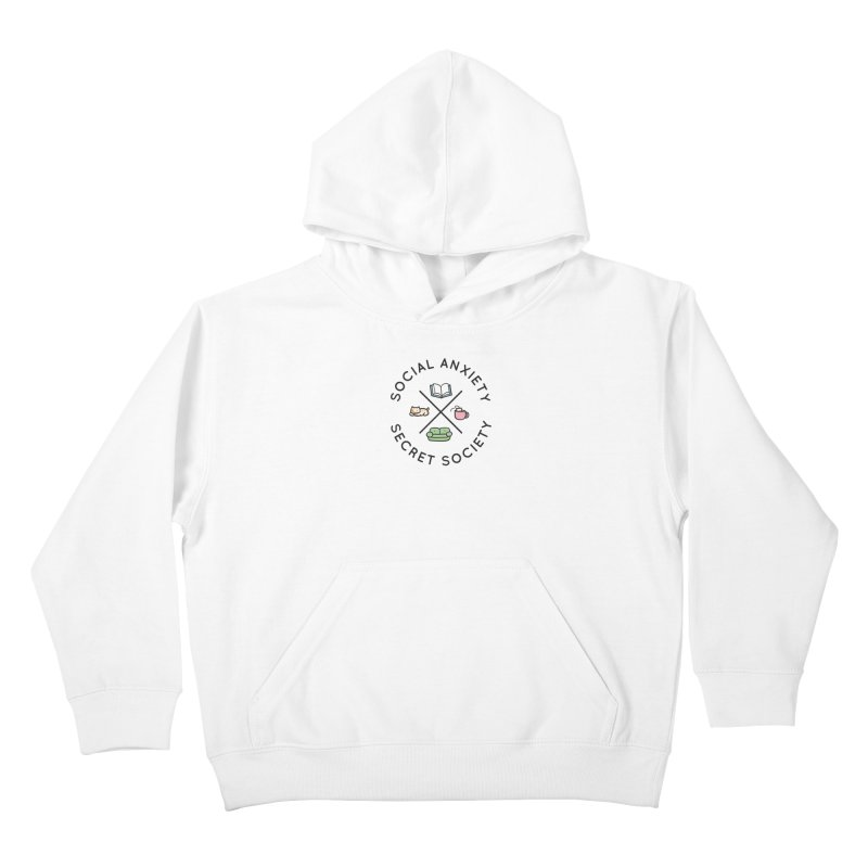 Social Anxiety Secret Society Kids Pullover Hoody by agrimony // Aaron Thong
