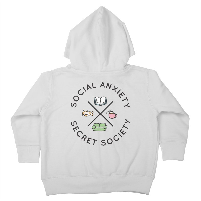 Social Anxiety Secret Society Kids Toddler Zip-Up Hoody by agrimony // Aaron Thong