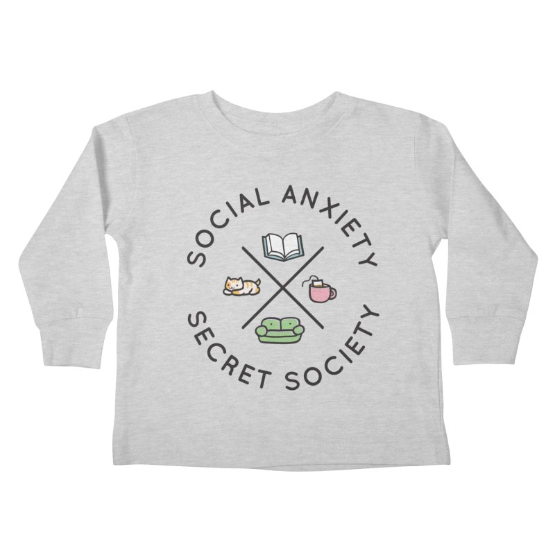 Social Anxiety Secret Society Kids Toddler Longsleeve T-Shirt by agrimony // Aaron Thong