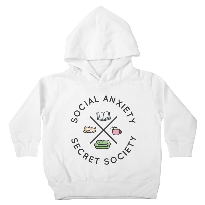 Social Anxiety Secret Society Kids Toddler Pullover Hoody by agrimony // Aaron Thong