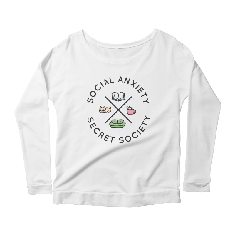 Social Anxiety Secret Society Women's Scoop Neck Longsleeve T-Shirt by agrimony // Aaron Thong
