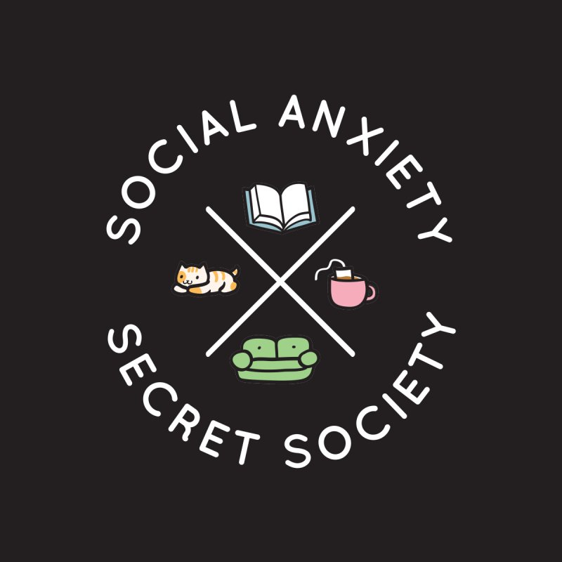 Social Anxiety Secret Society - Black Accessories Button by agrimony // Aaron Thong