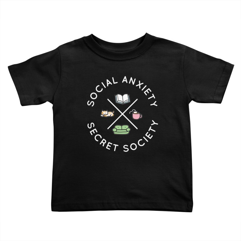 Social Anxiety Secret Society - Black Kids Toddler T-Shirt by agrimony // Aaron Thong