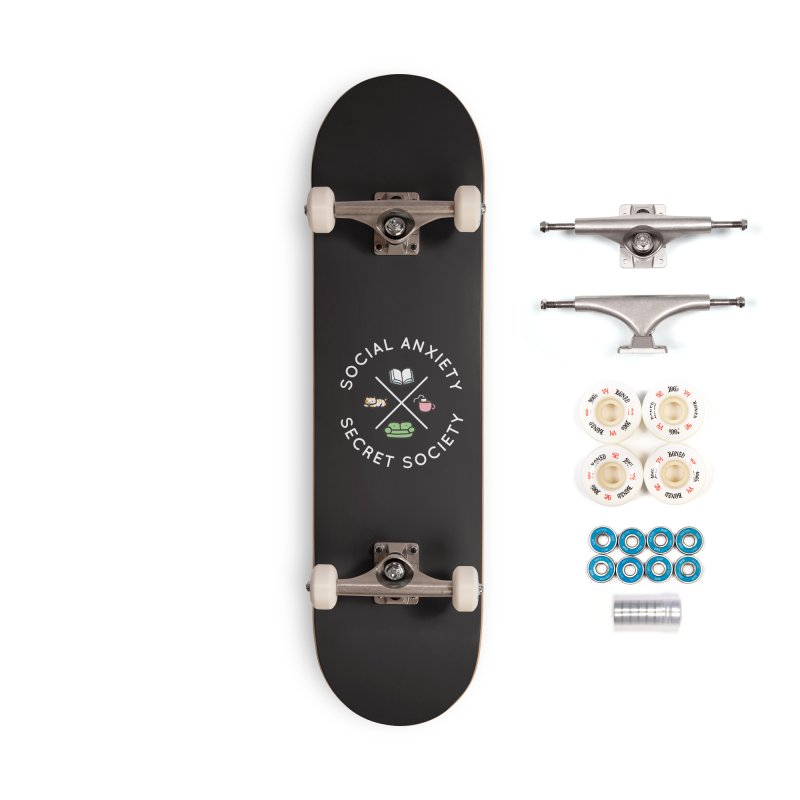Social Anxiety Secret Society - Black Accessories Complete - Premium Skateboard by agrimony // Aaron Thong