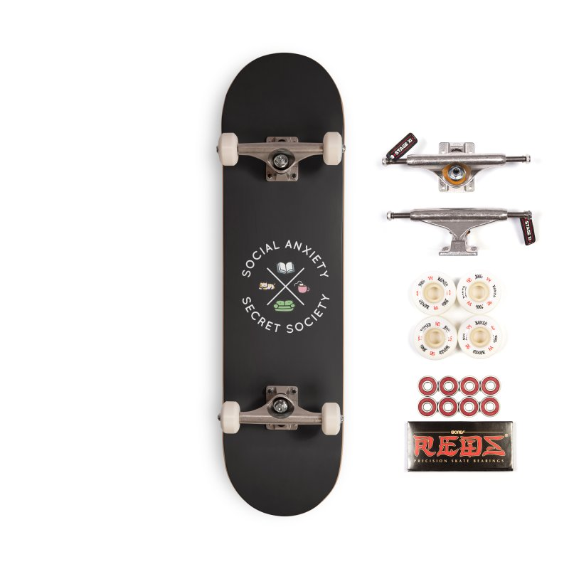 Social Anxiety Secret Society - Black Accessories Complete - Pro Skateboard by agrimony // Aaron Thong