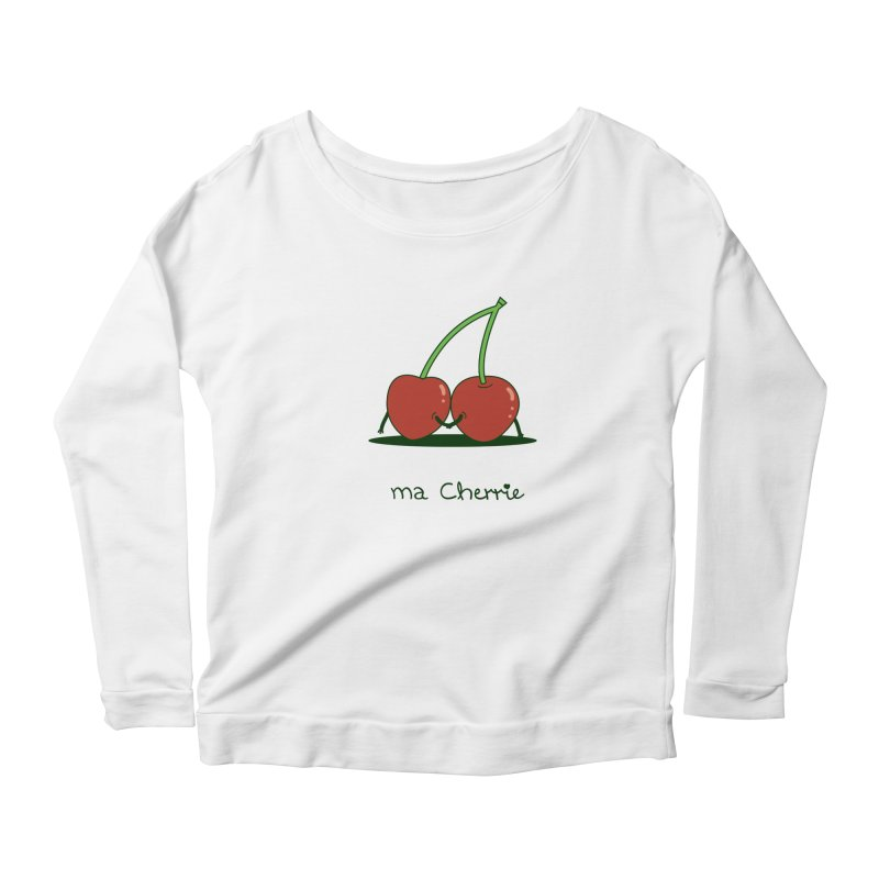 Ma Cherrie Women's Scoop Neck Longsleeve T-Shirt by agrimony // Aaron Thong