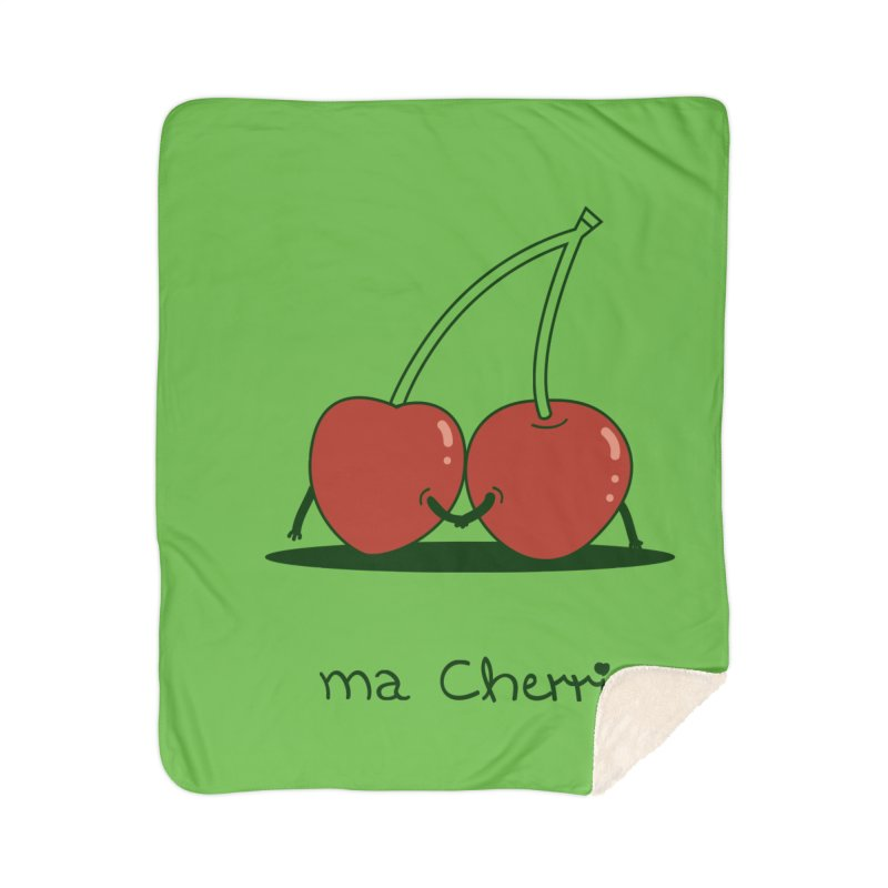 Ma Cherrie Home Sherpa Blanket Blanket by agrimony // Aaron Thong