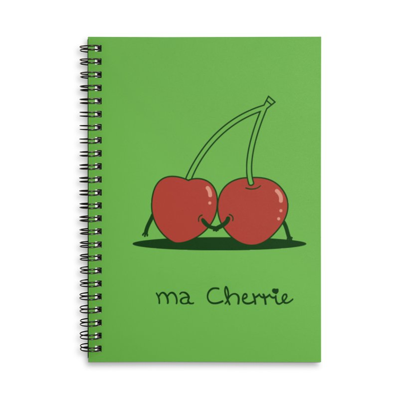 Ma Cherrie Accessories Lined Spiral Notebook by agrimony // Aaron Thong