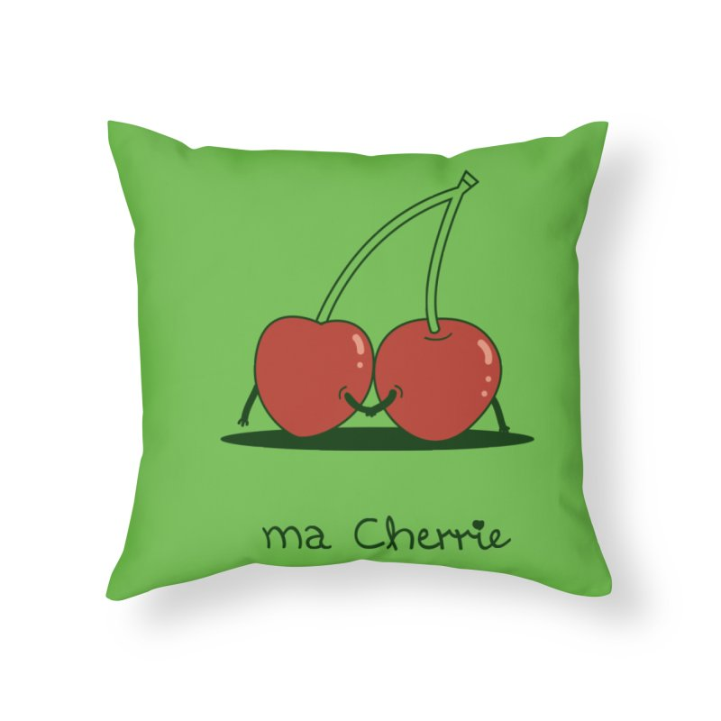 Ma Cherrie Home Throw Pillow by agrimony // Aaron Thong