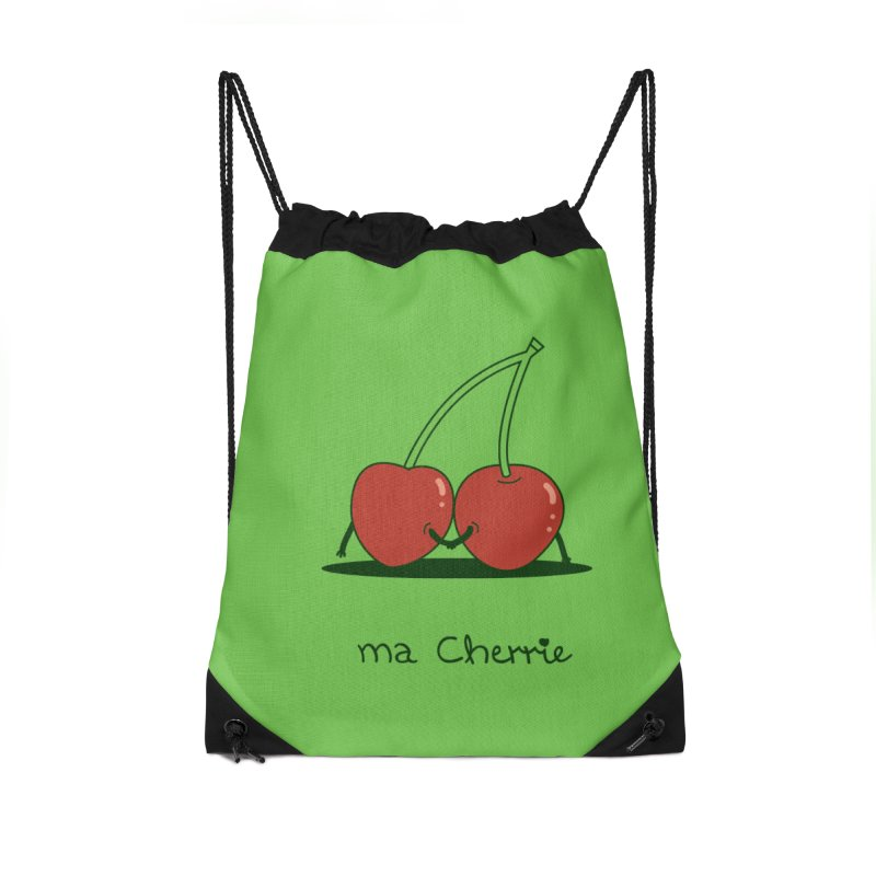 Ma Cherrie Accessories Drawstring Bag Bag by agrimony // Aaron Thong